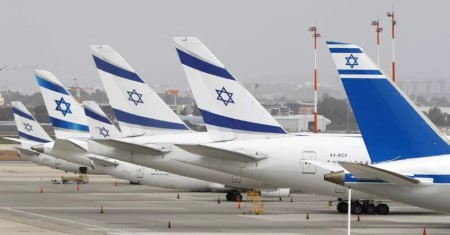 Idle planes at Ben Gurion airport