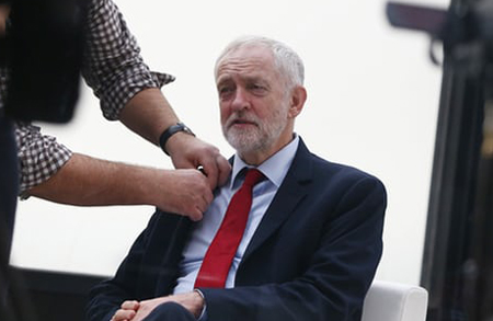 Jeremy Corbyn prepares for post-conference interview