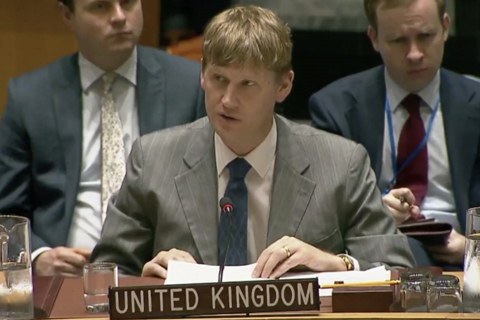 Jonathan Allen addressing the UN Security Council