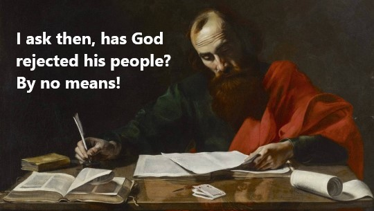 The Apostle Paul writing to the Romans
