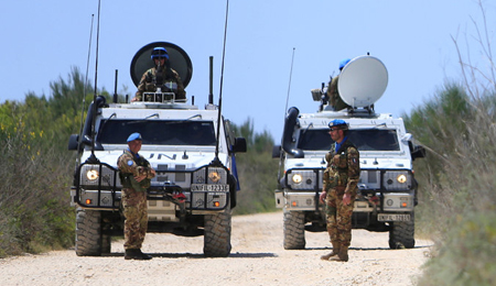 UNIFIL Soldiers in South Lebanon