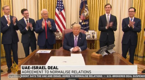 US Press Conference on Israel-UAE deal