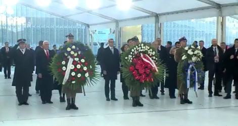 Wreath-laying ceremony at the Ghetto Heroes monument